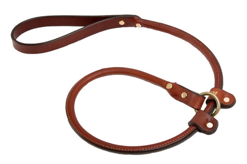Rolled Slip Lead - Chestnut - 3/4""