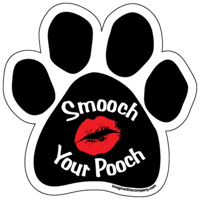 Smooch Your Pooch Paw Magnets