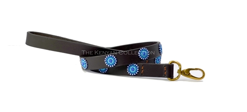 Blue-Brown Circles Collar & Leash Collection
