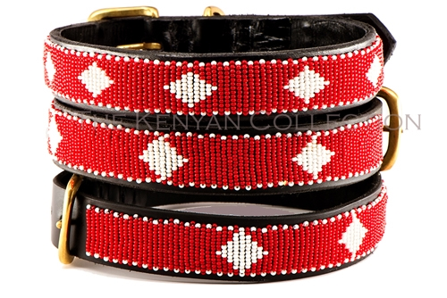 Unity - Red/White Collar & Leash Collection