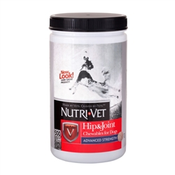 Nutri-Vet Hip & Joint Advanced Strength Chewables - 500mg GS, 400mg CS, 50mg MSM, 6mg HA - 300 ct
