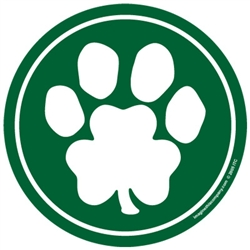 Circle Magnet (Clover / Paw) - Green