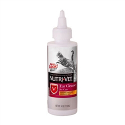 Nutri-Vet Ear Cleanse Liquid for Cats- 4 oz.