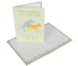 What Happens in the Dog Park - Greeting Card (6 pack)