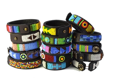 Beaded Leather Bracelets for People