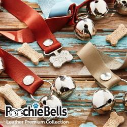 Leather Premium PoochieBells® The Original Dog Potty Training Doorbell Bell