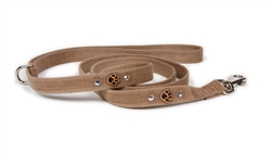 Embroidered Paws - WITH STUDS Ultrasuede® Leashes