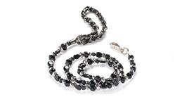 Fabuleash Beaded Dog Leash - The 5th Avenue Collection - Jet Black