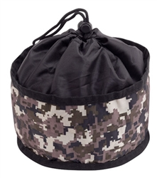 Foldable Travel Bowl with Graphic - Digital Camo