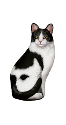 Black & White Cat Doorstop