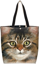 Tabby Cat Cotton Canvas Tote