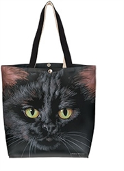 Black Cat Cotton Canvas Tote