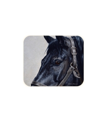 Black Horse Mouse Pad