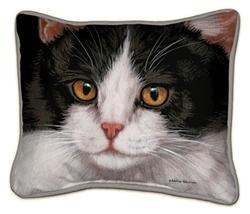 Black & White Cat Pillow