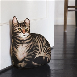Brown Tabby Doorstop