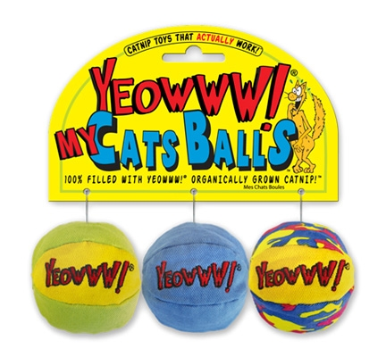 Yeowww! My Cat's Balls 3-Pack