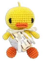 Hatch the Baby Duck - Knit Knacks - Organic Cotton Crocheted Toys