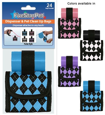 Argyle Print Patented Purse Dispensers