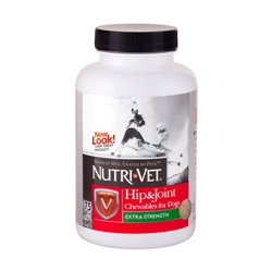Nutri-Vet Hip & Joint Extra Strength Chewables - 500mg GS, 200mg CS, 50mg MSM - 75 ct.