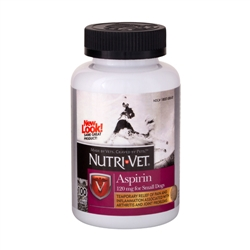 Nutri-Vet Aspirin for Small Dogs 120mg - 100 ct