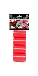 Designer Refill Bags - Red/Floral - 4 Rolls