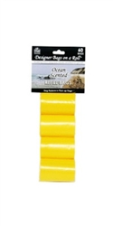 Designer Refill Bags - Yellow/Ocean - 4 Rolls