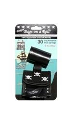 Designer Bags - Black Skulls - Black/Unscented - 2 Rolls