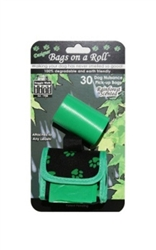 Designer Bags - Green Paw - Green/Rain Forest - 2 Rolls