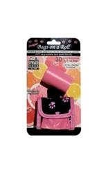 Designer Bags - Pink Paw - Pink/Citrus - 2 Rolls