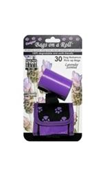 Designer Bags - Purple Paw - Purple/Lavender - 2 Rolls