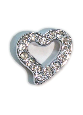 Heart Slider Charm - 10mm