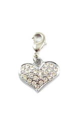 Heart D-Ring Charm - Nickel/Lead Free