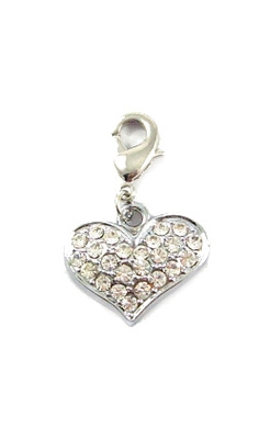 Heart D-Ring Charm - Nickel/Lead Free