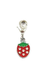 Strawberry D-Ring Charm - Nickel/Lead Free