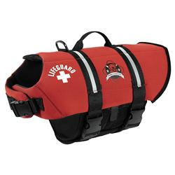 Dog Life Jacket - Paws Aboard Red Neoprene Pet Life Vest  |