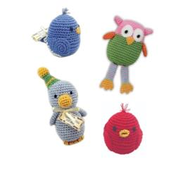 Birds Collection - Knit Knacks - Organic Cotton Crocheted Toys