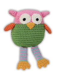 Wise Guy Owl - Knit Knacks - Organic Cotton Crocheted Toys