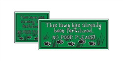"Yard Sign - 8"" x 9"" - No Poop Please - Green"
