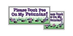 """Yard Sign - 8"""" x 9"""" - Petunias - White"""