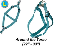 "Large Harness w/Satin Buckle, 1""W x 22-33"""