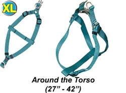 "XL Harness w/Satin Buckle 1""W x 27-42"""