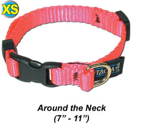 "XS Collar, Quick Release Buckle 3/8""W x 7-11"""
