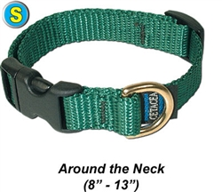 "Small Collar, Quick Release Buckle 5/8""W x 8-13"""