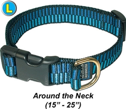 "Large Collar, Quick Release Buckle 1""W x 15-25"""