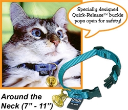 "Safety ""Pull Apart"" cat collar 7""-11"" with a Liberty Bell"