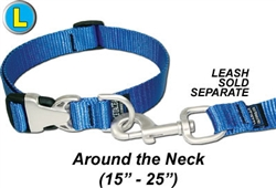 Large Dog Collar w/Satin Hardware