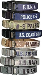 Tactical Dog Collar with Military Branch