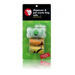 Transparent Bone Shape Dispenser & Biodegradable Waste Pick-Up Bags