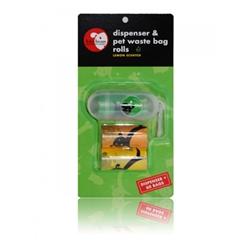 Transparent Pill Shape Dispenser & Biodegradable Waste Pick-Up Bags