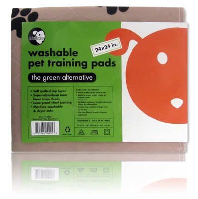 "Washable Pet Training Pads - 18""x20"", 2 Pads per pack"
